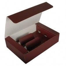 Gift box for bottles of wine 36 cm x 25 cm x 9 cm bordeaux for 3 bottles