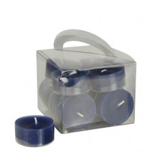 12 Tealights Ø 38 mm · 18 mm dark blue in polycarbonate cup, completely colored