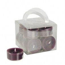 12 Tealights Ø 38 mm · 18 mm purple in polycarbonate cup, completely colored