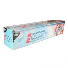 Cling film, PVC 300 m x 45 cm with practical safety cutting system