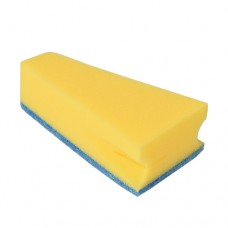 3 Sponge 14 cm x 7.9 cm x 4.2 cm blue/yellow with practical mouth edge cleaner