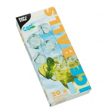 20 Ice cube bags with self-sealing und easy release