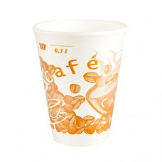 "50 Thermo cups, EPS 0.3 l Ø 8.7 cm · 11 cm white ""Café"""