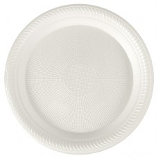 100 Plate, EPS not divided Ø 22.5 cm · 2 cm white , coated