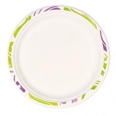 """50 Plates, wood pulp not divided Ø 24.5 cm · 2.2 cm white """"Flavour"""""""