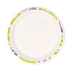 """50 Plates, wood pulp not divided Ø 22 cm · 2 cm white """"Flavour"""""""
