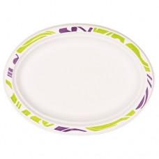"""50 Plates, wood pulp oval 26 cm x 19 cm x 2 cm white """"Flavour"""""""