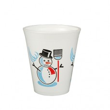 "50 Thermo cups, EPS 0.2 l Ø 7.9 cm · 9.1 cm white ""Snowman"""