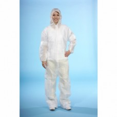 2 Fleece Overalls white uncoated, size XL