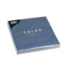 20 Napkins, 3-ply 1/4 fold 33 cm x 33 cm dark blue