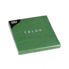 20 Napkins, 3-ply 1/4 fold 33 cm x 33 cm dark green