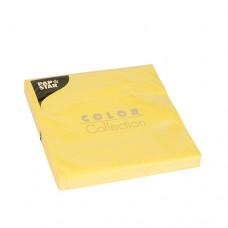 20 Napkins, 3-ply 1/4 fold 33 cm x 33 cm yellow