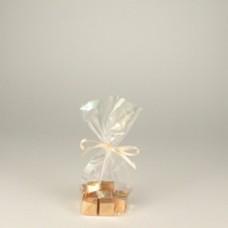 10 Film bags, PP 16 cm x 9.5 cm x 4 cm transparent