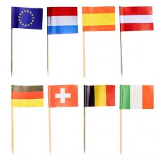 """50 Party picks 8 cm """"Nations"""""""