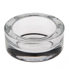 Candle holder, glass round Ø 83 mm · 39 mm crystal clear for Maxi lights