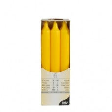 6 Table candles Ø 2.1 cm · 19.6 cm golden yellow