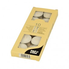 10 Tealights Ø 38 mm · 16 mm white