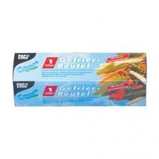 100 Freezer bags, LLDPE 1 l 24 cm x 16 cm transparent in folding box