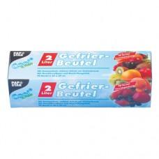 90 Freezer bags, LLDPE 2 l 30 cm x 20 cm transparent in folding box