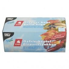 60 Freezer bags, LLDPE 4 l 40 cm x 25 cm transparent in folding box