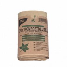 10 Compost bags, paper 10 l 35 cm x 21 cm x 15 cm brown
