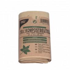 50 Compost bags, paper 10 l 35 cm x 21 cm x 15 cm brown