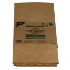 2 Compost bags 240 l 115 cm x 80 cm x 30 cm brown