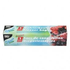 "20 Freezer bags ""QuickSnap"" 1 l 20 cm x 18 cm transparent in folding box"