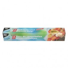 "15 Freezer bags ""QuickSnap"" 3 l 28 cm x 27 cm transparent in folding box"