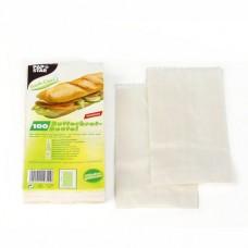 100 Sandwich bags 21 cm x 10 cm x 3 cm white , greaseproof