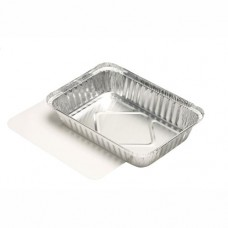 10 Dishes with lids made of PE coated cardboard square 0.8 l 4 cm x 15 cm x 21.4 cm