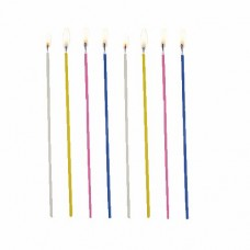 18 Spaghetti candles Ø 3 mm · 16.5 cm colours assorted