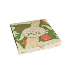"""100 Pizza boxes of 100% cellulose """"pure"""" square 24 cm x 24 cm x 3 cm"""