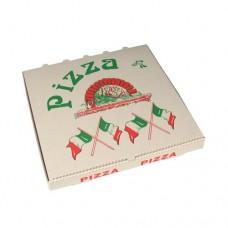 """50 Pizza boxes of 100% cellulose square 33 cm x 33 cm x 4 cm """"Italian flagg"""""""