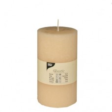 "Cylinder candles Ø 70 mm · 130 mm cream ""Rustic"" completely coloured"