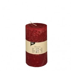 "Cylinder candles Ø 70 mm · 130 mm bordeaux ""Rustic"" completely coloured"