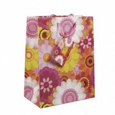 """10 Lacquer carrier bags 23 cm x 18 cm x 10 cm """"Flowers"""""""