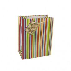 """10 Lacquer carrier bags 23 cm x 18 cm x 10 cm """"Stripes"""""""