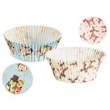"""60 Baking cups Ø 5 cm · 2.5 cm """"Elk & Penguin"""" assorted"""