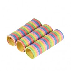 "3 Deco Streamers 4 m ""Stripes"" flame retardant"