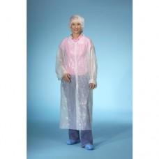10 Visitor coats, HDPE 150 cm x 125 cm white