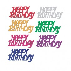 "Foil confetti colours assorted ""Happy Birthday"" 15 g"