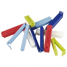 10 Closing-clips, PP colours assorted