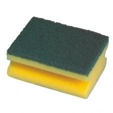 2 Pan sponges, fleece 4.4 cm x 9.5 cm x 7 cm yellow with handle groove