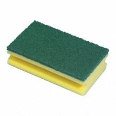 Pan sponges, fleece 15.5 cm x 8.5 cm x 4 cm yellow with handle groove