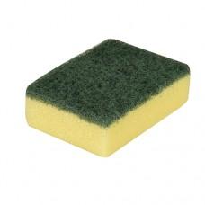 3 Pan sponges, fleece 3 cm x 9.5 cm x 7 cm yellow/green
