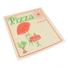 """100 Pizza bags 30 cm x 30 cm """"Cafeteria"""" fat resistant"""