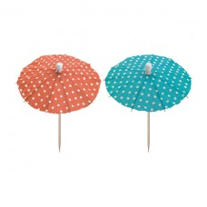 """10 Party picks 10 cm colours assorted """"Eisschirmchen Dots"""""""