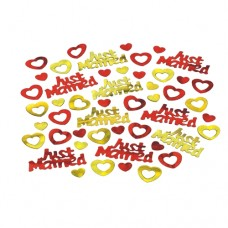 "Foil confetti ""Just married"" 15 g"
