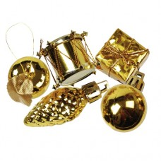 """13 Deco accessories gold """"Christmas Decorations"""" Ø 20-60 mm"""